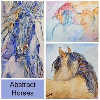 Abstract Horse paintings by SundayL