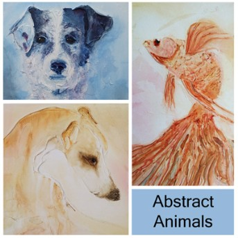 Abstract Animal paintings by Sunday L Abstract Artist