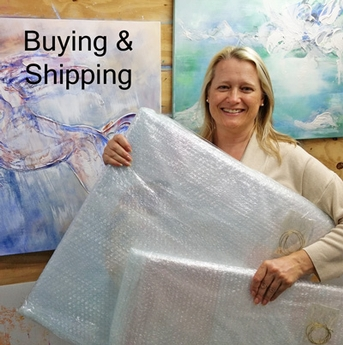 Buying and Shipping Art from SundayL Abstract Artist